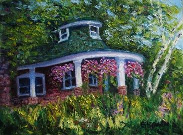 """Gardener's Cottage 12"""" x 16"""" $150"""
